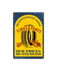 Tire Repair, Automotive, Vintage Metal Sign, 16 X 24 Inches