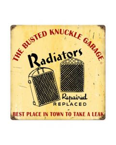 Radiator Repair, Automotive, Vintage Metal Sign, 12 X 12 Inches