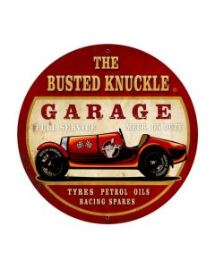Old Race Car, Automotive, Round Metal Sign, 28 X 28 Inches