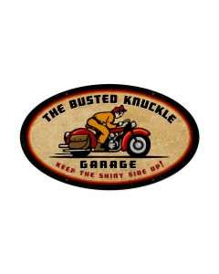 Retro Rider, Motorcycle, Oval Metal Sign, 24 X 14 Inches