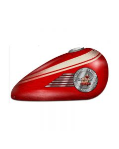 Red Motorcycle Tank, Motorcycle, Custom Metal Shape, 18 X 10 Inches