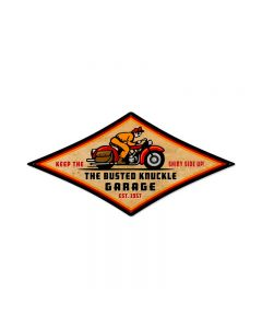 Retro Rider, Motorcycle, Diamond Metal Sign, 22 X 14 Inches