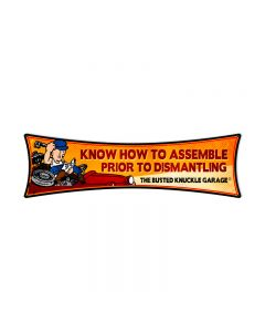 Know how to Assemble, Automotive, Bowtie Metal Sign, 22 X 6 Inches