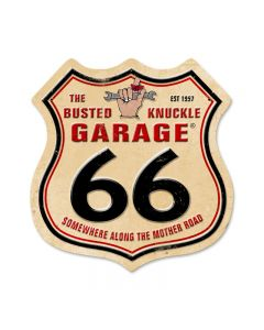 Route 66, Automotive, Shield Metal Sign, 15 X 15 Inches