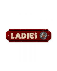 Ladies, Automotive, Door Push, 12 X 3 Inches