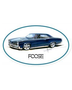 Foose Teal Car, Featured Artists/Chip Foose Signs, Oval, 24 X 14 Inches
