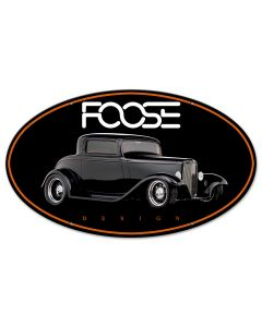 Foose Black Classic, Featured Artists/Chip Foose Signs, Oval, 24 X 14 Inches