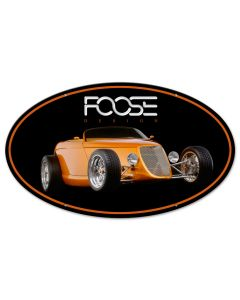 Foose Orange Dragster, Featured Artists/Chip Foose Signs, Oval, 24 X 14 Inches