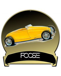 29 Roadster Yellow, Featured Artists/Chip Foose Signs, Round Banner, 16 X 15 Inches