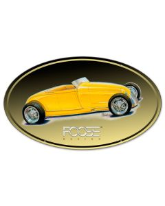 29 Roadster Yellow, Featured Artists/Chip Foose Signs, Oval, 24 X 14 Inches