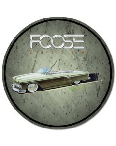 Foose 54 Customline Green, Featured Artists/Chip Foose Signs, Round, 14 X 14 Inches