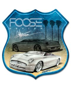 White Car Palms, Featured Artists/Chip Foose Signs, Shield, 28 X 28 Inches