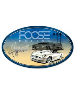 White Car Palms, Featured Artists/Chip Foose Signs, Oval, 24 X 14 Inches