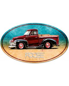 54 Red Truck, Featured Artists/Chip Foose Signs, Oval, 40 X 25 Inches