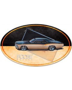 66 Black and Yellow Car, Featured Artists/Chip Foose Signs, Oval, 40 X 25 Inches