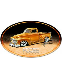 52 Yellow Truck, Featured Artists/Chip Foose Signs, Oval, 40 X 25 Inches