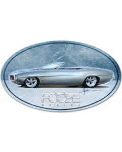 69 Blue Convertible, Featured Artists/Chip Foose Signs, Oval, 40 X 25 Inches