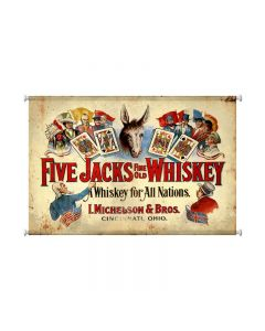 Five Jacks Whiskey, Bar and Alcohol, Canvas Print, 38 X 25 Inches
