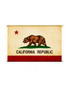 California Flag, Home and Garden, Canvas Print, 38 X 25 Inches