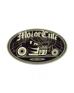 Afterhours, Automotive, Oval Metal Sign, 14 X 24 Inches