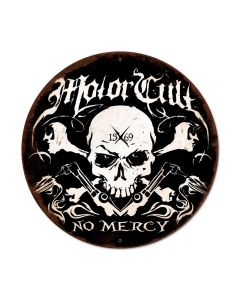 No Mercy, Automotive, Round Metal Sign, 28 X 28 Inches