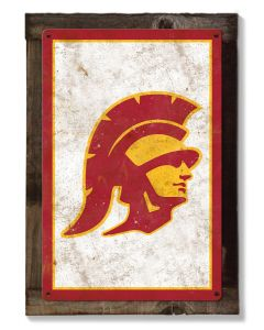 USC Trojans Wall Art, Rustic Metal Sign, Optional Rustic Wood Frame, College Teams, Mascots, and Sports, Free Shipping