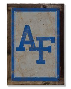 Air Force NCAA Wall Art, Rustic Metal Sign, Optional Rustic Wood Frame, College Teams, Mascots, and Sports