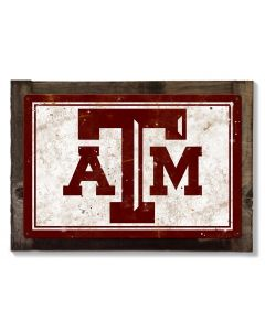 Texas AM Wall Art, NCAA Rustic Metal Sign, Optional Rustic Wood Frame, College Teams, Mascots, and Sports