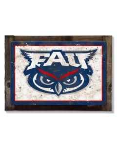 Florida Atlantic University Wall Art, NCAA Rustic Metal Sign, Optional Rustic Wood Frame, College Teams, Mascots, and Sports