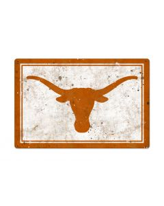 Texas Longhorns Wall Art, NCAA Rustic Metal Sign, Optional Rustic Wood Frame, College Teams, Mascots, and Sports