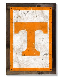 Tennessee Wall Art, NCAA Rustic Metal Sign, Optional Rustic Wood Frame, College Teams, Mascots, and Sports