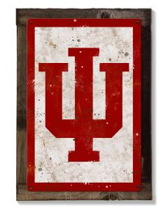 Indiana Hoosiers Wall Art, NCAA Rustic Metal Sign, Optional Rustic Wood Frame, College Teams, Mascots, and Sports