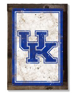 Kentucky Wall Art, NCAA Rustic Metal Sign, Optional Rustic Wood Frame, College Teams, Mascots, and Sports