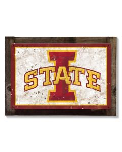 Iowa State Wall Art, NCAA Rustic Metal Sign, Optional Rustic Wood Frame, College Teams, Mascots, and Sports