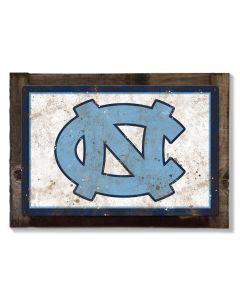 North Carolina Tar Heels Wall Art, NCAA Rustic Metal Sign, Optional Rustic Wood Frame, College Teams, Mascots, and Sports
