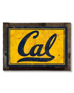 Cal Golden Bears Wall Art, NCAA Rustic Metal Sign, Optional Rustic Wood Frame, College Teams, Mascots, and Sports