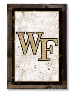 Wake Forest Wall Art, NCAA Rustic Metal Sign, Optional Rustic Wood Frame, College Teams, Mascots, and Sports