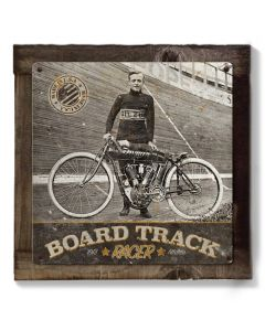 Indian Motorcycles, Board Track Racer Wall Art, Metal Sign, Optional Wood Frame