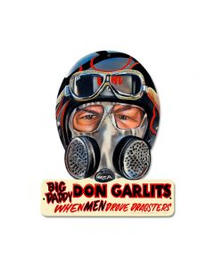 Don Garlits, Automotive, Helmet Metal Sign, 12 X 15 Inches