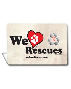 We Love Rescues Topper, Anilmals, TOPPER, 6 X 4 Inches