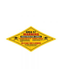 Area 51, Other, Diamond Metal Sign, 24 X 12 Inches