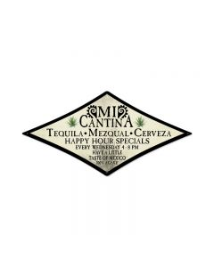 Mi Cantina, Foreign Language, Diamond Metal Sign, 14 X 24 Inches