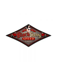 Hump Slow, Pinup Girls, Diamond Metal Sign, 22 X 14 Inches
