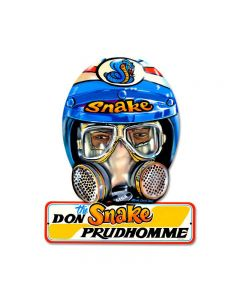 Don Prudhomme, Automotive, Helmet Metal Sign, 15 X 12 Inches