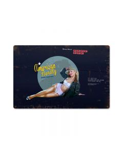 American Beauty, Pinup Girls, Metal Sign, 18 X 12 Inches