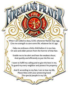 Fireman'S Prayer, Licensed Products/Erazorbits, PLASMA , 12 X 16 Inches