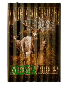 DEERS MEGA BUCKS CORRUGATED, Featured Artists/Erazorbits, Corrugated, 16 X 24 Inches