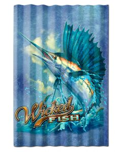 SAILFISH WICKED FISH CORRUGATED, Featured Artists/Erazorbits, Corrugated, 16 X 24 Inches