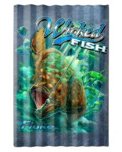FLUKE WICKED FISH CORRUGATED, Featured Artists/Erazorbits, Corrugated, 16 X 24 Inches