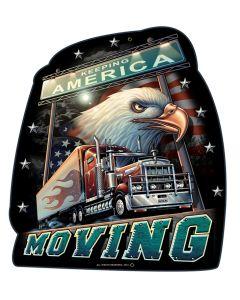 TRUCKERS AMERICA MOVING, Featured Artists/Erazorbits, Plasma, 14 X 16 Inches